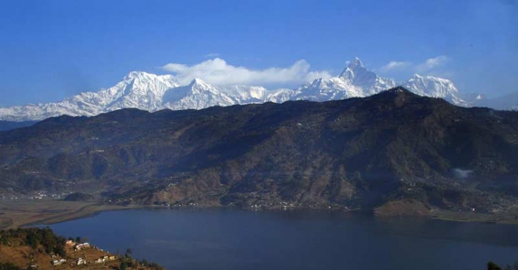 Lake and Mountain vew from Pokhara