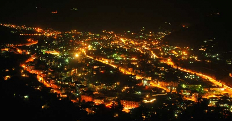 Night View of Thimphu City