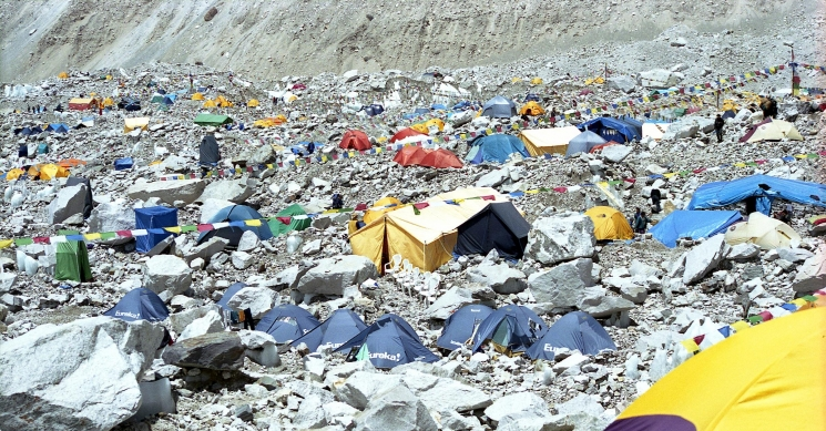 Everest Base Camp View on Expedition season