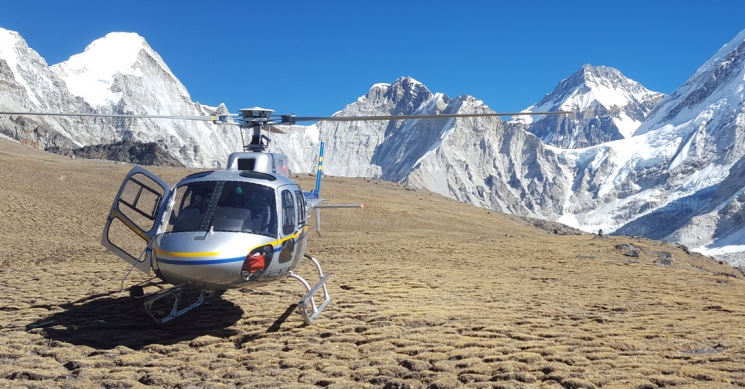 Helicopter Landed Kalapathar