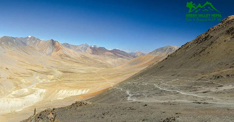 View from Jungben Pass in Dolpo Trek