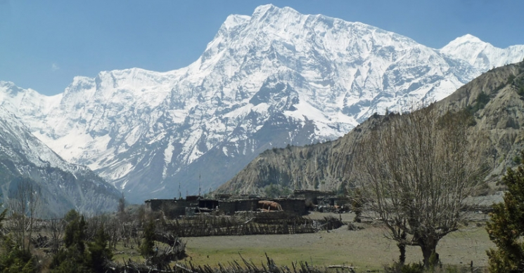 View of Annapurna III from Tsum Valley