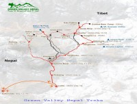 Map of Everest Three High Passes Trek