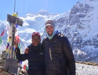 Our Guide Bhim & Russ at Kanchanjunga Base Camp