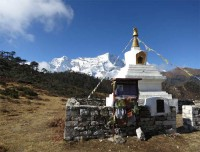 View from Tyangboche with Memory of Hillary
